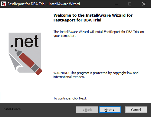 FastReport for DBA installation. First step.